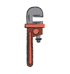 pipe wrench design vector image