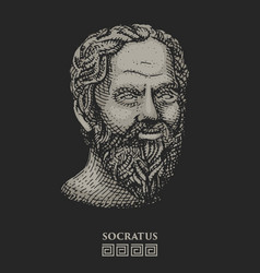 portrait of socrates ancient greek philosopher vector image