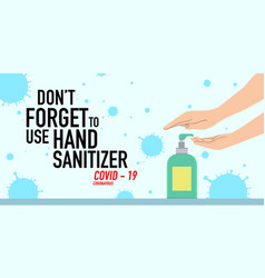 Print people using hand sanitizer vector