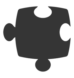 Puzzle piece isolated icon over white background vector image