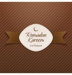 Ramadan Kareem Eid Mubarak religious Banner vector image