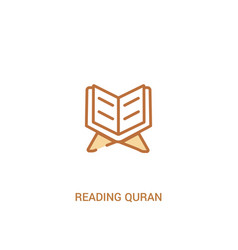 Reading quran concept 2 colored icon simple line vector