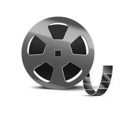 realistic detailed 3d reel of film tape vector image