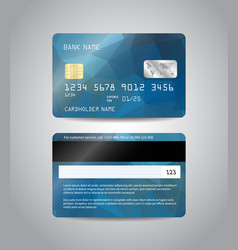 realistic detailed credit card vector image