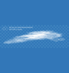 Realistic steam transparent fountain cloud vector