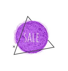 Sale grunge banner - ultra violet scratch round vector
