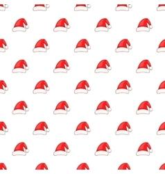 Santa Claus hat pattern cartoon style vector image
