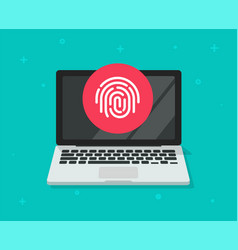 security protection via touch fingerprint or vector image