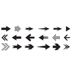 set black arrows arrows icon arrows vector image