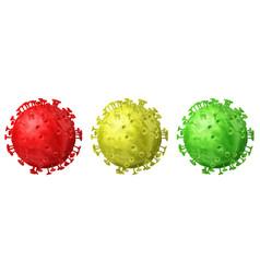set coronaviruses vector image