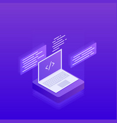 software development big data processing vector image