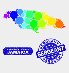 Spectral mosaic jamaica map and distress sergeant vector