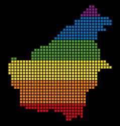 Spectrum pixel lgbt borneo island map vector
