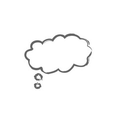 speech think bubbles icon flat icon single high vector image