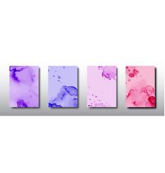 Splash bright watercolor on multicolored vector