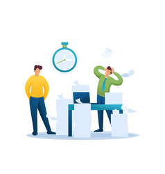 Stressful situations office deadline vector
