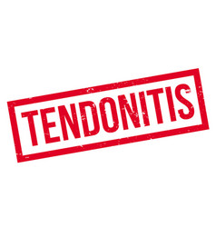 Tendonitis rubber stamp vector