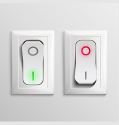 Toggle switch plastic switches with on vector