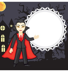 Vampire background vector
