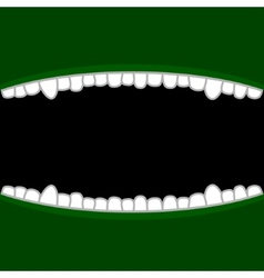 Vampire Mouth with Teeth Halloween Background vector