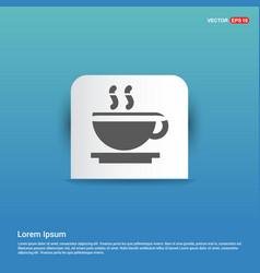 Warm drink icon - blue sticker button vector