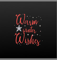 Warm winter wishes holiday banner - new year vector