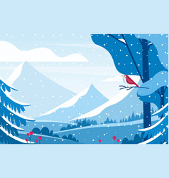 wintertime scenery flat vector image