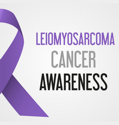 World leiomyosarcoma cancer day awareness poster vector