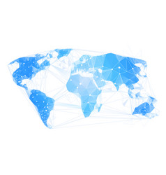 World map abstract geometrical polygonal earth vector
