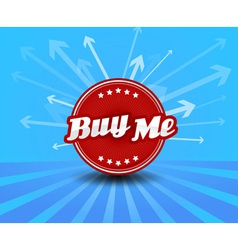 Buy me label with arrows on the background vector image