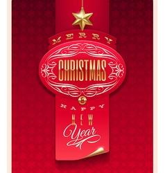 Christmas greeting design vector image vector image
