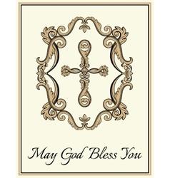 Decorative Christian cross vector image