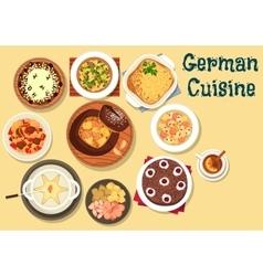 German cuisine festive christmas dinner icon vector image vector image