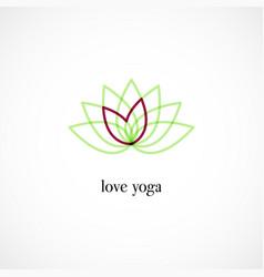 lotus icon vector image