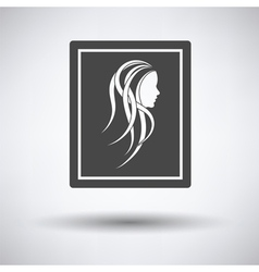 Portrait art icon vector image vector image
