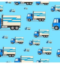 Seamless pattern truck vector image