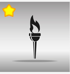 Torch black icon button logo symbol vector