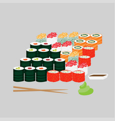 traditional japanese lunch concept vector image