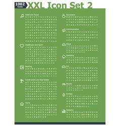 XXL icon set 2 vector image