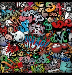 graffiti on wall streetart background vector image vector image