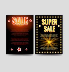 shining sale brochure flyers template vector image vector image