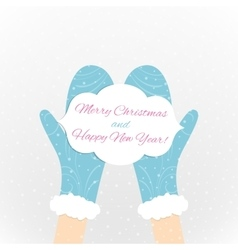 The Christmas card vector image