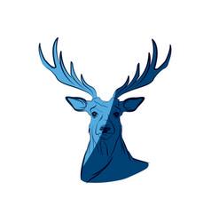 blue free spirit deer animal bohemic design vector image vector image