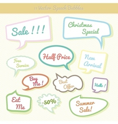Collection of colorful speech bubbles Dialog Set vector image vector image