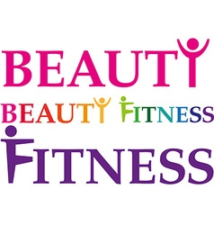 fitness beauty vector image vector image