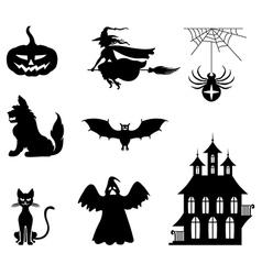 hallowen set vector image vector image