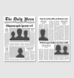paper tabloid newspaper layout editorial vector image