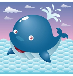 whale in sea vector image vector image