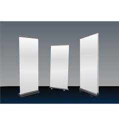 blank roll ups set vector image vector image
