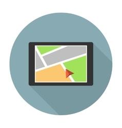 Car navigation device vector image vector image